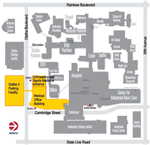 KU Medical Office Building Map